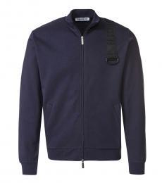 Bikkembergs Dark Blue Logo Sweatshirt