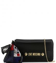Love Moschino Black Logo Plate Small Crossbody