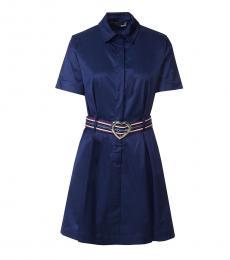 Love Moschino Blue Evening Shirt Dress
