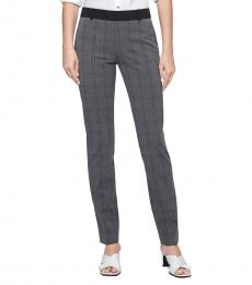 Grey Plaid Ankle Pants