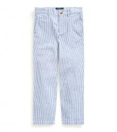 Ralph Lauren Little Boys Blue Stretch Seersucker Skinny Pants