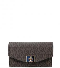Michael Kors Brown Marigold Cassie Trifold Wallet
