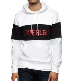 True Religion White Logo Pullover Sweatshirt