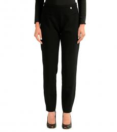 Versace Collection Black Elastic Waist Casual Pants