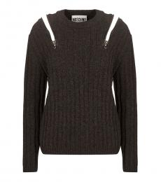 Love Moschino Dark Grey Crewneck Sweater