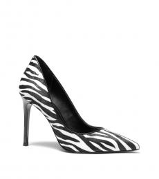 Black White Keke Heels