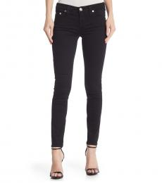 True Religion Black Halle Mid Rise Super Skinny Jeans
