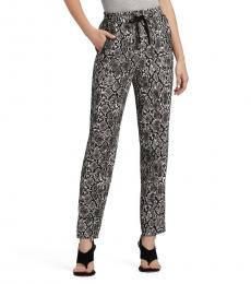 Dark Grey Printed Pull On Pant
