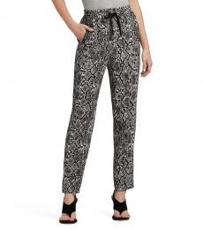 DKNY Dark Grey Printed Pull On Pant
