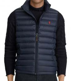 Ralph Lauren Navy Down Packable Puffer Vest