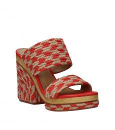 Tory Burch Red Open Toe Lola Heels