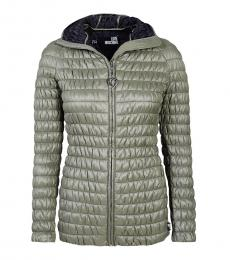 Love Moschino Olive Quilted Solid Jacket