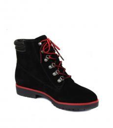 Ralph Lauren Black Mikelle Suede Boots