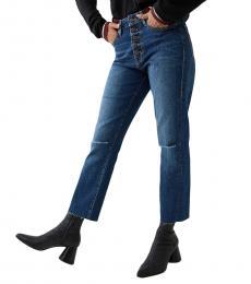 True Religion Blue Hunter Starr High Rise Jean