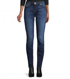 True Religion Street Blue Low-Rise Skinny Jeans