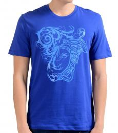 Versace Collection Blue Graphic Print T-Shirt