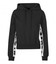 Love Moschino Black Hooded Logo Sweatshirt