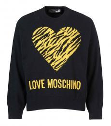 Love Moschino Black Heart Logo Sweatshirt