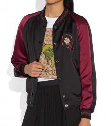 Coach Black Reversible Varsity Jacket