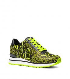 Yellow Billie Newsprint Logo Sneakers