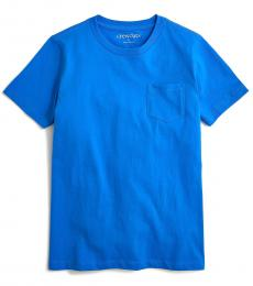 J.Crew Boys Seacoast Blue Pocket T-Shirt