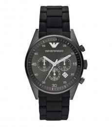 Black Grey Chronograph Watch