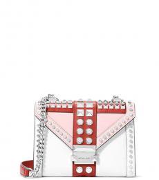 Michael Kors Smokey Rose Whitney Studded Small Shoulder Bag