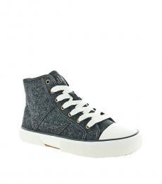 Ralph Lauren Grey Hi Top Sneakers