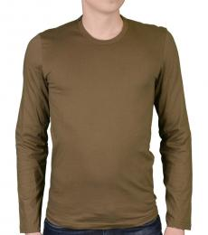 Dolce & Gabbana Olive Green Long Sleeve Tee