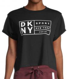 DKNY Black Logo Cotton Tee