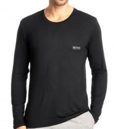 Black Modal Long Sleeve T-Shirt