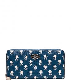 Coach Blue Badlands Floral Wallet