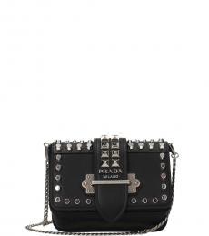 Black Cahier Studded Mini Shoulder Bag