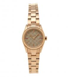 Furla Rose Gold Eva Grey Dial Watch