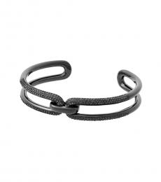 Black Chain-Link Cuff Bracelet