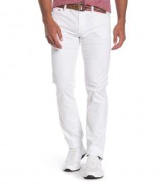 White Matchbox Slim Fit Pants
