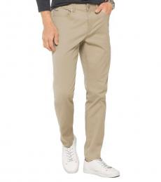 Michael Kors Sand Slim-Fit Cotton-Twill Pants