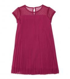 BCBGirls Little Girls Burgundy Pleated Dress