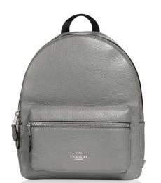 Coach Grey Charlie Medium Backpack