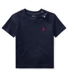 Ralph Lauren Baby Boys Navy Crewneck T-Shirt