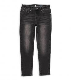 Girls Dark Grey Ankle Skinny Jeans