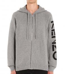 Kenzo Grey Sleeve Logo Solid Jacket