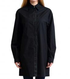 Versus Versace Black  Button Down Tunic Shirt
