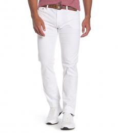 AG Adriano Goldschmied White Matchbox Slim Fit Pants
