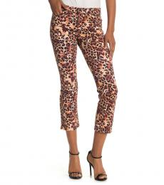AG Adriano Goldschmied Camo Cognac Cropped Pants