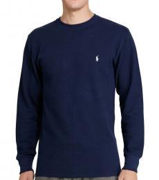 Ralph Lauren Cruise Navy Waffle-Knit Sweater