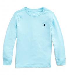 Ralph Lauren Little Boys Island Aqua Crewneck T-Shirt