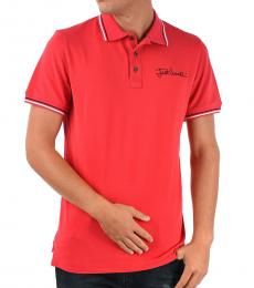 Just Cavalli Red Stretch Cotton Polo