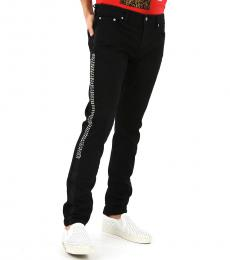 Black Studded Side Bands Jeans