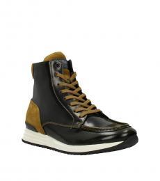 Hogan Black Mustard High Top Sneakers